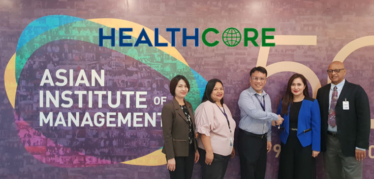 Asian Institute of Management partners with HealthCore for the Certificate Course on Patient-Centered Healthcare Management (10-12 April 2019)